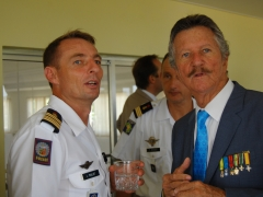 Le Colonel Paillot, attaché de défense et le Colonel (ER) Pierre Grosjean.
