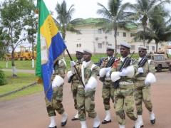 Le drapeau des Forces Armées Gabonaises