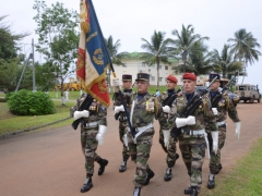 Le drapeau du 6ème Bataillon d'Infanterie de Marine (6ème BIMA)